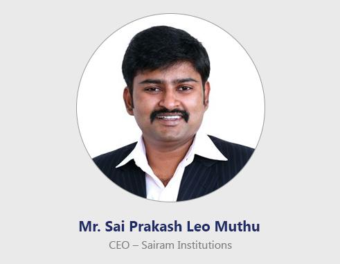 CEO's Message – Sri Sairam Siddha Medical College & Research Centre